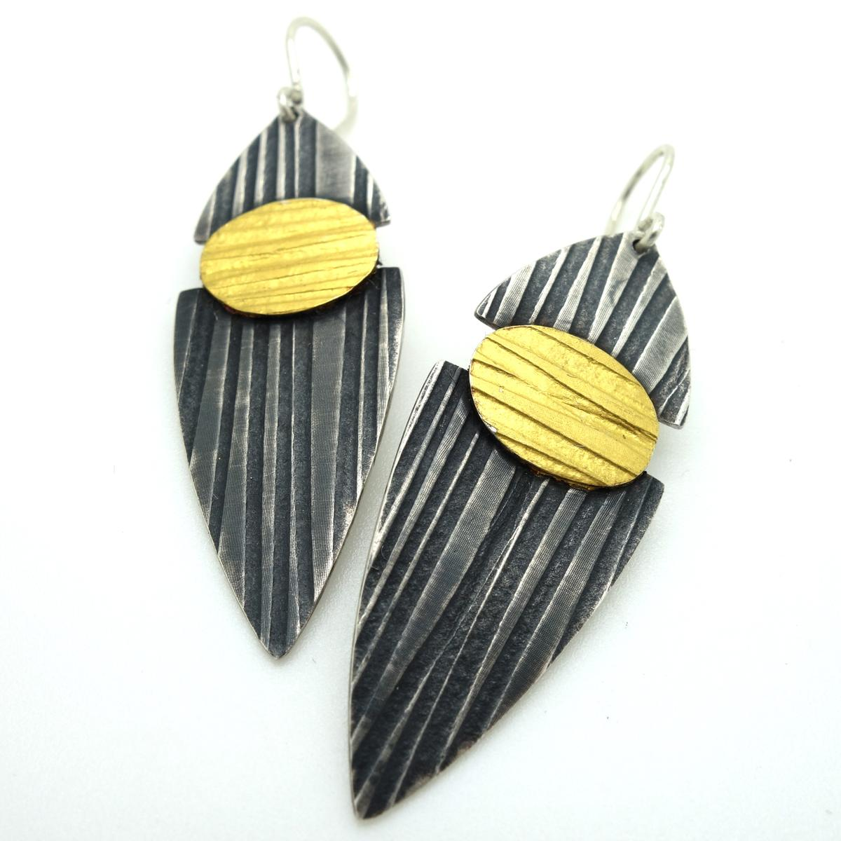 Split Lines Drop Earrings by Jessica Briggs