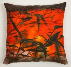Bamboo and Orange Cushion. Product thumbnail image