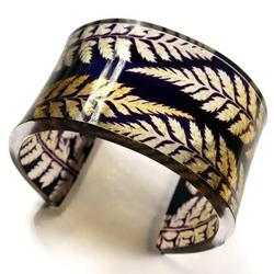 Purple Gold Fern Cuff by Sue Gregor