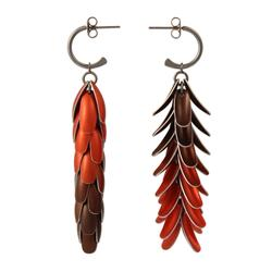 Elytra Reversable Earrings Long Red by John Moore. Product thumbnail image