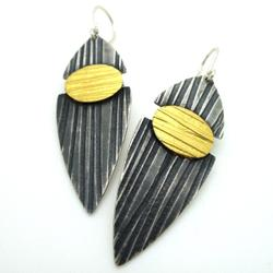 Split Lines Drop Earrings by Jessica Briggs. Product thumbnail image