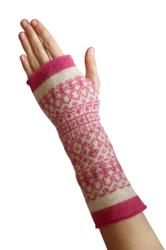 Fingerless Mittens Pink by Suzie Lee. Product thumbnail image